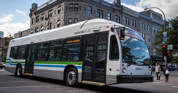 Volvo visar sin nya, nordamerikanska elbuss på UITP-mässan i Montreal. Foto: Volvo.