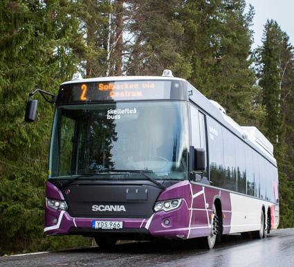 Ökat resande men minskad lönsamhet redovisar Skellefteå Buss för 2016. Foto: Skellefteå Buss.