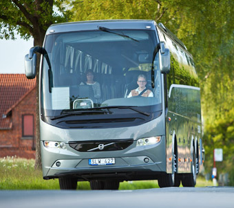 Förra året vann Volvo 9900 VDS det nyinrättade hållbarhetspriset i turistbussklassen. Foto: Volvo.