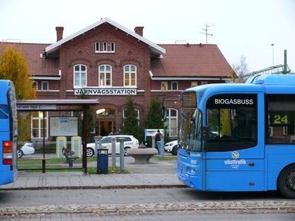 Bussresandet i Trollhättan och Vänersborg har ökat kraftigt. Foto: Nobina.