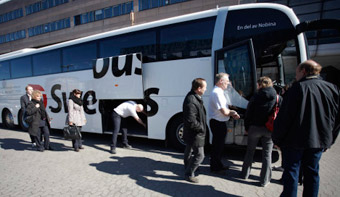 Swebus startar den 17 maj en ny linje från Vadstena via Motala, Linköping, Nyköping, Liljeholmen till Stockholm. Foto: Swebus.