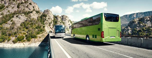 Daimler Buses nya säkerhetssystem ABA 4 som ska hindra att fotgängare blir påkörda av buss kommer från våren nästa år bland annat att finnas på nya Mercedes-Benz Tourismo. Bild: Daimler Buses.
