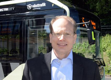 Håkan Agnevall, vd för Volvo Bussar: elskatten för elbussar är både orättvis och utvecklingshämmande. Foto: Ulo Maasing.