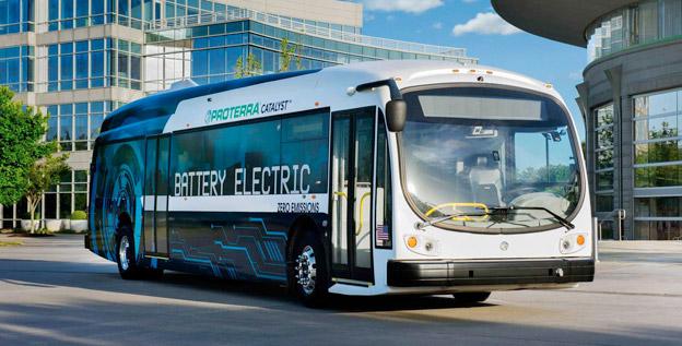 Tyska BMW investerar närmare en halv miljard kronor i elbusstillverkaren Proterra i USA. Foto: Proterra.