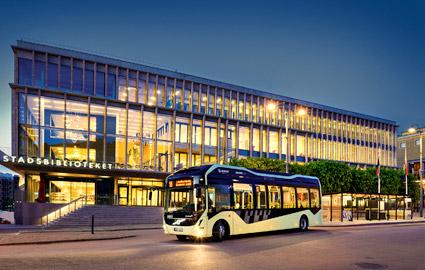 ElectriCityprojektet i Göteborg utökas nösta sommar med att Volvo lanserar helt elektriska ledbussar. Foto: Volvo.