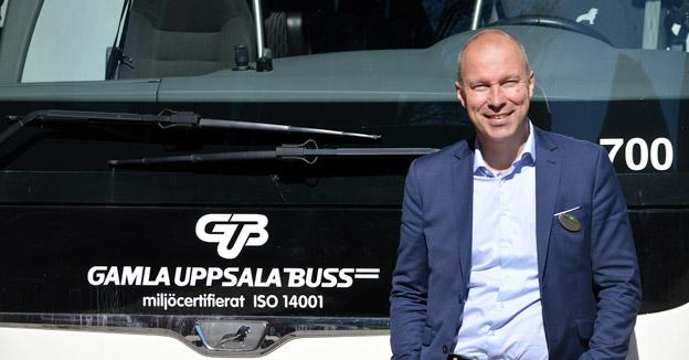 Jonas Skovgaard, ny vd för Gamla Uppsala Buss AB.