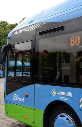 Linje 60  var Göteborgs första hybridbusslinje. Nu ska linjen bli helt elektrisk. Foto: Ulo Maasing.