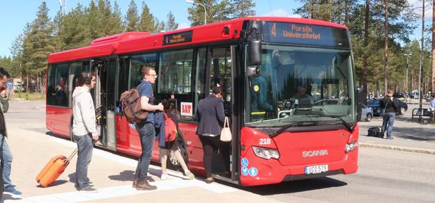 Luleå har placerat sig som årets nykomling blad de tio mest hållbara kommunerna i Sverige. Kommunens satsning på busstrafik är skälet.Foto: Ulo Maasing.