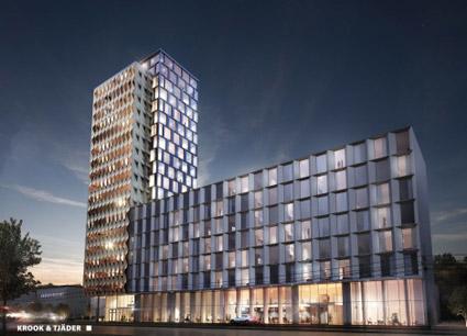 Mölndal får ett nytt storhotell med 370 rum. Bild: Nordic Choicxe Hotels.