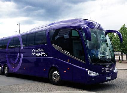 Nettbuss Bus4You satsar på trafiken till Arlanda. Foto: Nettbuss.