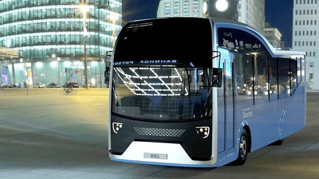Brittiska forskare har tagit fram världens första buss som körs på flytande kväve. Bild: Dearman.