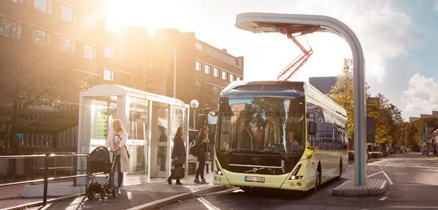Nobina har beställt tretton snabbladdade elbussar från Volvo för trafik på linje 7 i Malmö. Foto: Volvo Bussar.
