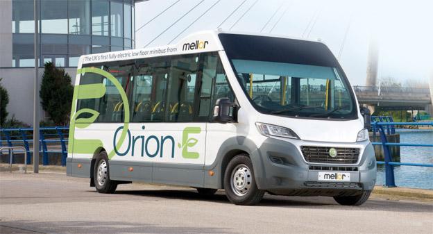Brittiska Orion E, här i vänstertrafikutförande, lanseras nu i Sverige av BK Invest. Foto: Mellor.