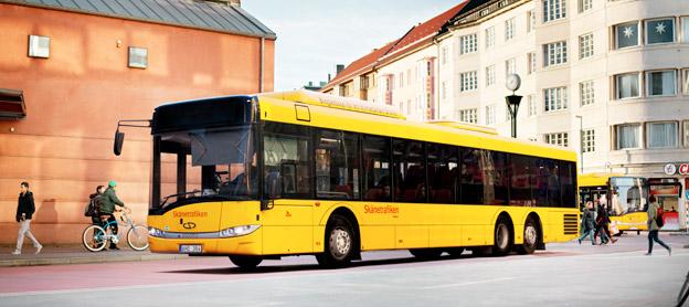 Resandet med de skånska regionbussarna ökar kraftigt. Foto: Karl-Johan Hjertström.