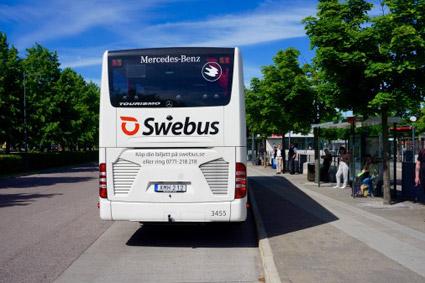 Många tar expressbuss när tågen strular. Foto: Swebus.