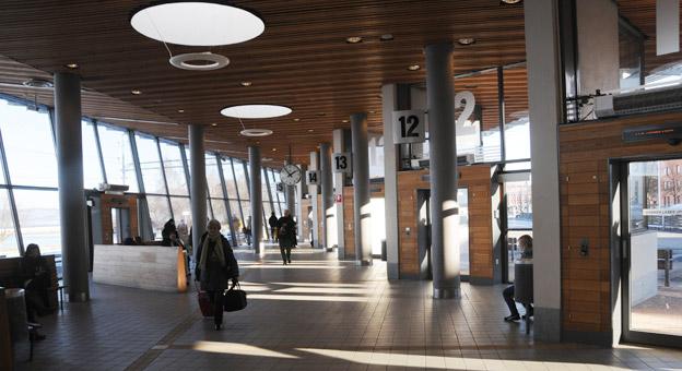 Bäst på att ta hand om expressbussar: Jönköpings Resecentrum. Foto: Ulo Maasing.