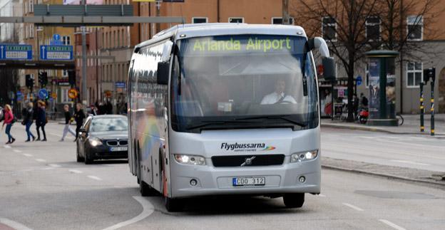 Flera av Flygbussarnas linjer toppar Transdevs kundnöjdhet, bland annat linjen Liljeholmen – Arlanda. Foto: Ulo Maasing.