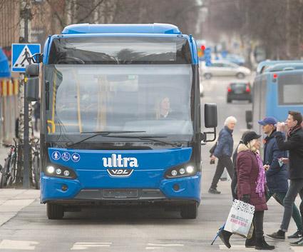 Umeå har nu fördubblat klollektivresandet, 2,5 år före tidtabell. Foto: Patrick Trädgårdh.