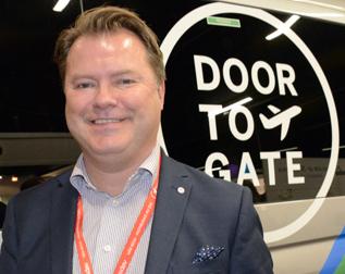 """John Strand, vd för Merresir där bland annat Flygbussarna, Båtbussarna och Snälltågbet ingår: """"Vi placerar en hållplats utanför kundens dörr""""."""