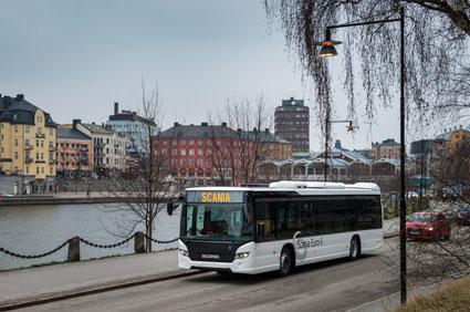 Användningen av biodrivmedel ökade kraftigt i fjol enligt Energimyndigheten. Foto: Scania.