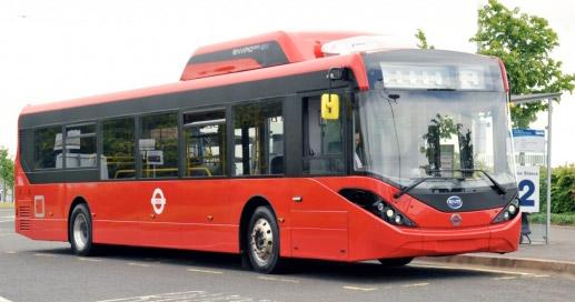 ADL/BYD Enviro200 EV som ska trafikera de tre ytterligare Londonlinjer som ska elektrifieras. Bild: ADL.