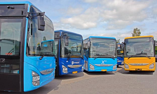 Iveco Bus levererar i sommar och hjöst 142 Iveco Crossway till danska bussoperatörer. Foto: Iveco.