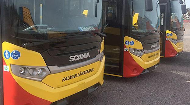 Den 21 augusti kommer standarden för dem som reser med bussarna i Kalmar län att förbättras dramatiskt. Foto: KLT.
