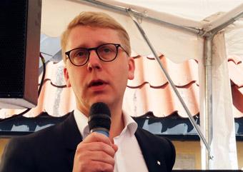 Kristoffer Tamsons(M): Låpt trängselskatterna tillfalla regionen. Foto: Ulo Maasing.