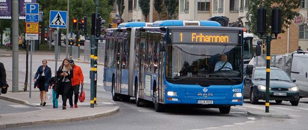 I augusti sätter Keolis in 31 nya MAN ledbussar i Stockholms innerstad. Foto: Keolis.