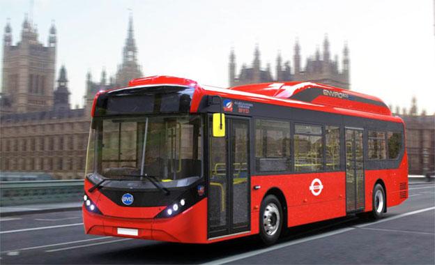 Kinesiska BYD och brittiska ADL skördar nya framgångar på elbussmarknaden. Nu har man erövrat en tredje stor order på batteribussar till London på kort tid. Bild: BYD.