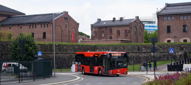 Oslo kommer att börja införa elbussar i trafiken. Bild: Solaris.
