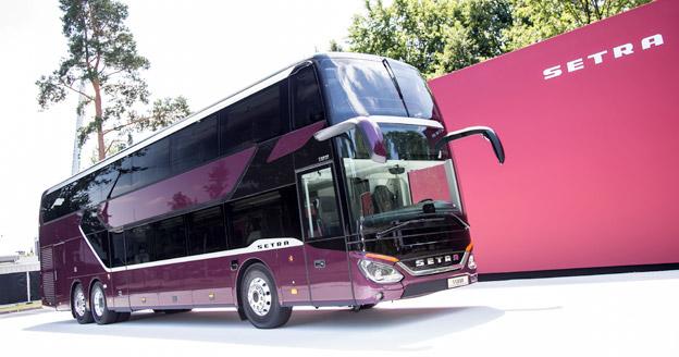 Setra lanserar den här veckan nya dubbeldäckaren S531 DT. Bild: Daimler Buses.