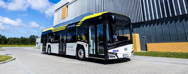 Två italienska städer har beställt 22 elbussar, nya Urbino 12 Electric, från Solaris. Foto: Solaris.