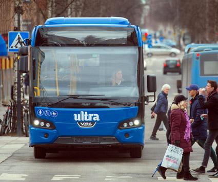 Trafikverket har beslutat att ge stöd enligt stadsmiljöavtalen för att Umeå ska uetveckla ett modernt betalsystem i kollektivtrafiken. Foto: Patrik Trägårdh.