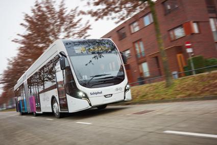 En eldriven BRT-buss frpn VDL för trafik i södra Amsterdam. Med hjälp av elektrifiering och automation kan BRT-konceptet utvecklas, anser Trafikverket. Foto: VDL.