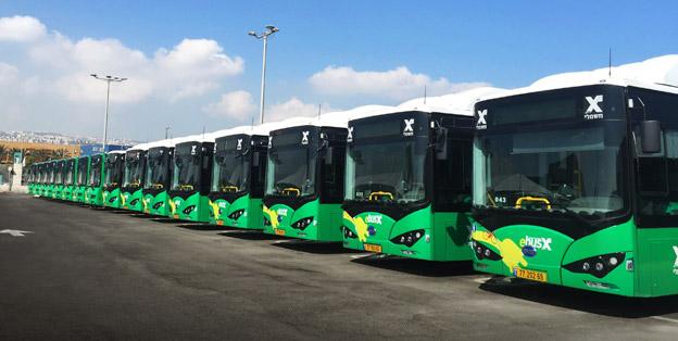 Israel och hamnstaden Haifa är en ny marknad för BYD:s batteribussar. Foto: BYD.