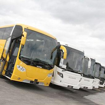 Scania har koncentrerat sin försäljning av begagnade bussar i Tyskland till Willich, nära Düsseldorf. Foto: Scania.