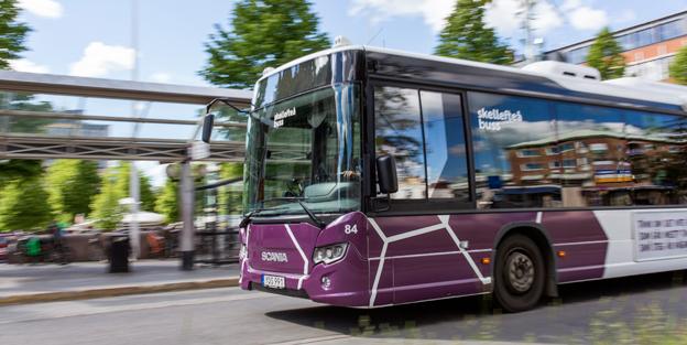 Bussresandet ökar kraftigt i Skellefteå. Foto: Skellefteå buss.
