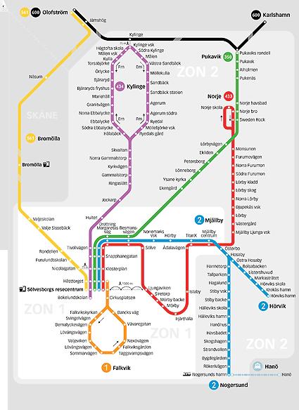 Nya linjesträckningar, linjenummer och tätare turer blir det i Sölvesborg från den 14 augusti.
