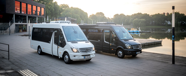 Mercedes-Benz lanserar en jubileumsversion av Sprinter Travel 65. Foto: Daimler Buses.
