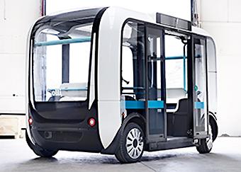 Den själkvörande bussen Ollie. Foto: Autonomous Mobility.