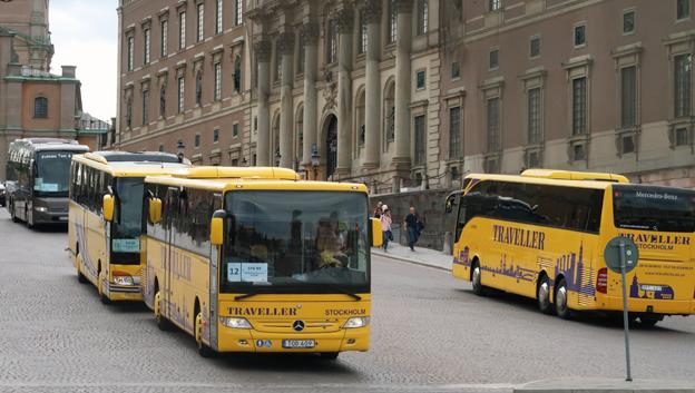 Ovälkomna färdmedel i Stockholm på söndag. Foto: Ulo Maasing.