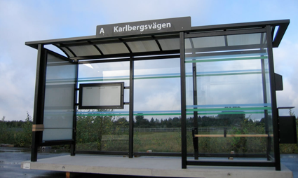 Hallandstrafiken inleder en omfattande upprsutning av busshålllplatser i Varberg och Falkenberg. Foto: Hallandstrafiken.