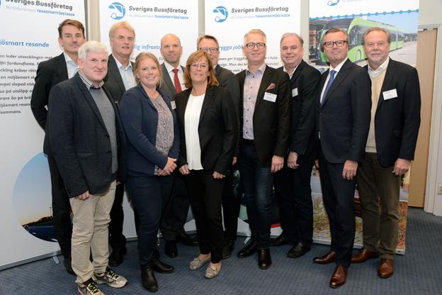 Sveriges Bussföretas styrelse det kommande året. Från vänster: