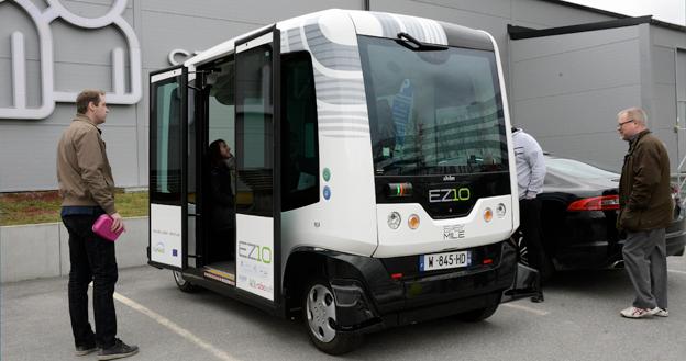 Helsingborgare ska senare i september få prova att åka förarlös minibuss. Foto: Ulo MAasing.
