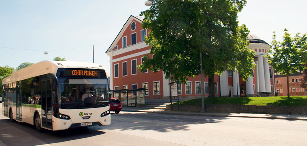 Härnösand ska testa ny, unik busstrafik. Foto: Härnösands kommun.
