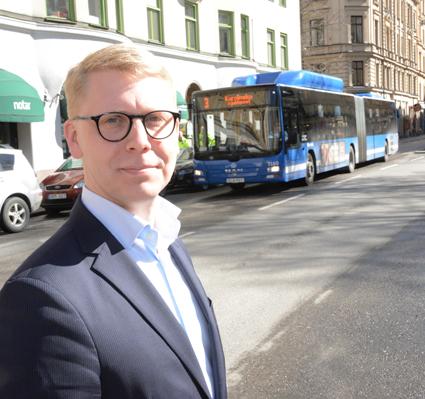 Trafiklandstingsrådet Kristoffer Tamsons(M): Starkaste delårsrapporten för SL i modern tid. Foto: Ulo MAasing.