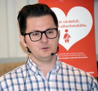 Alexander Hurtig, Statens haverikommission: Bältets montering spelar roll. Foto: Ulo Maasing.