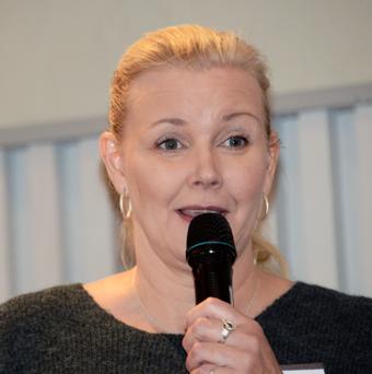 Marie Nordin, NTF, efterlyste att trafikupphandlare inte tillåter stående passagerare i höga hastigheter. Foto: Ulo Maasing.