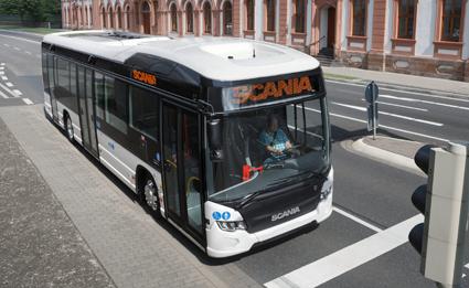 Scania Citywide LE Hybrid är en av de bussar som nominerats till årets hållbarhetspris. Foto: Roger Wink.